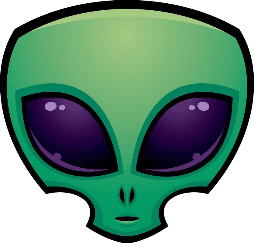 Green Alien Head clipart