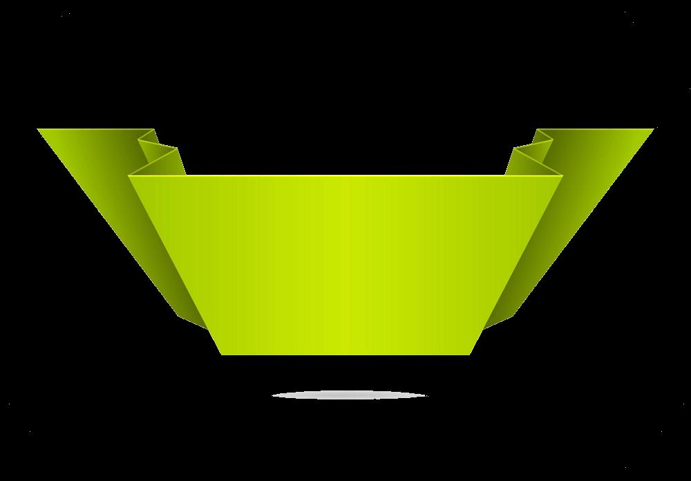 Green Banner clipart transparent