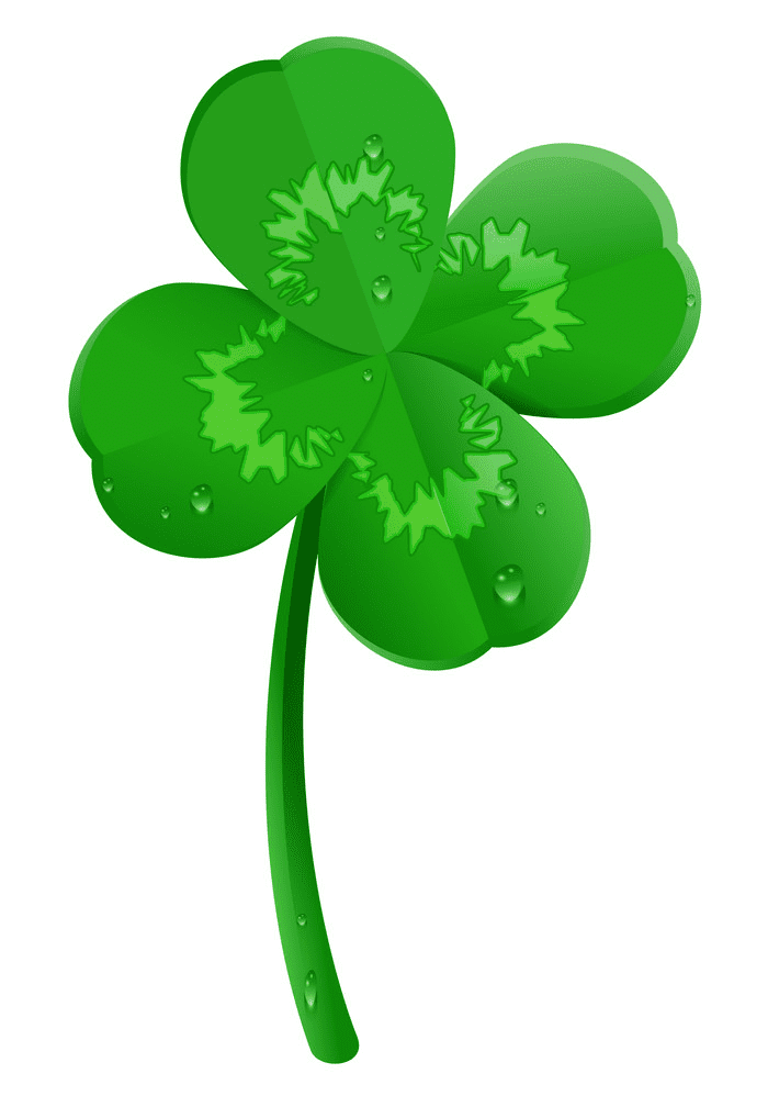 Green Four Leaf Clover clipart free