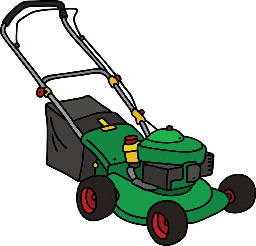 Green Lawn Mower clipart free