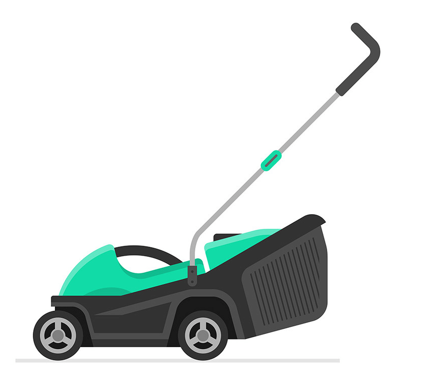Green Lawn Mower clipart png