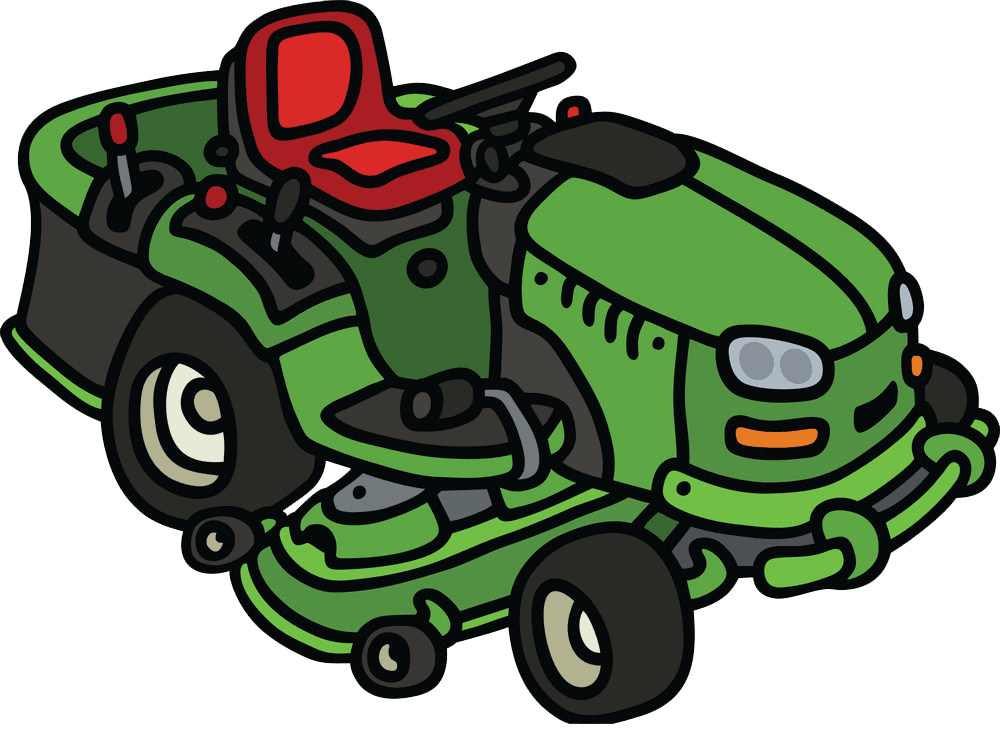 Green Lawn Mower clipart transparent