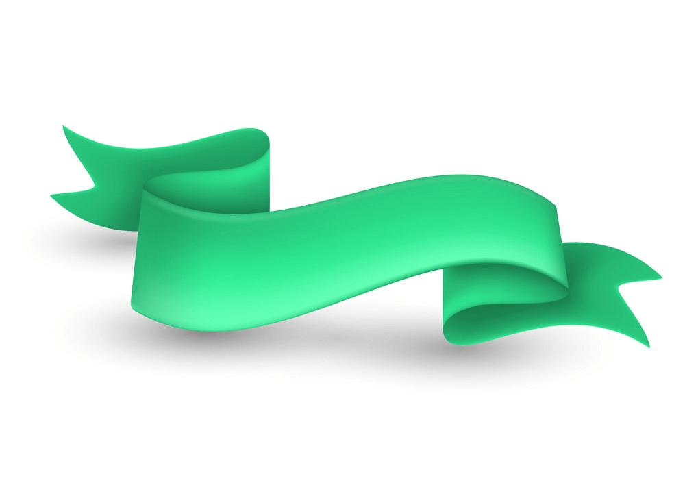 Green Ribbon Banner clipart