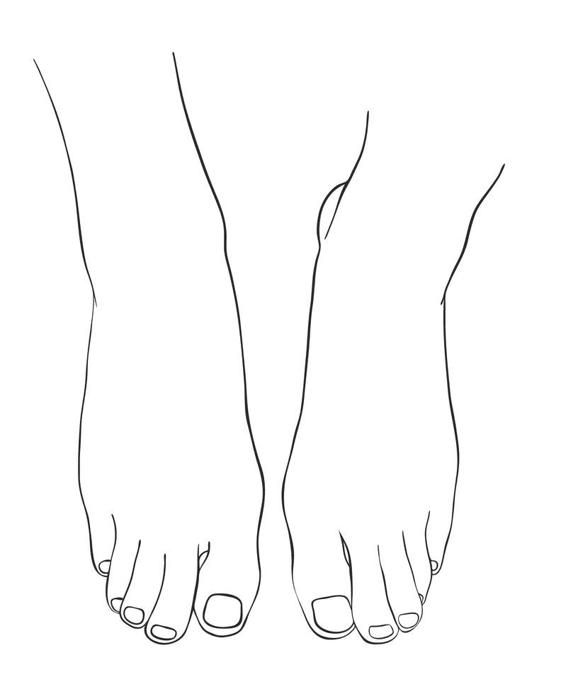 Hand Drawn Feet clipart