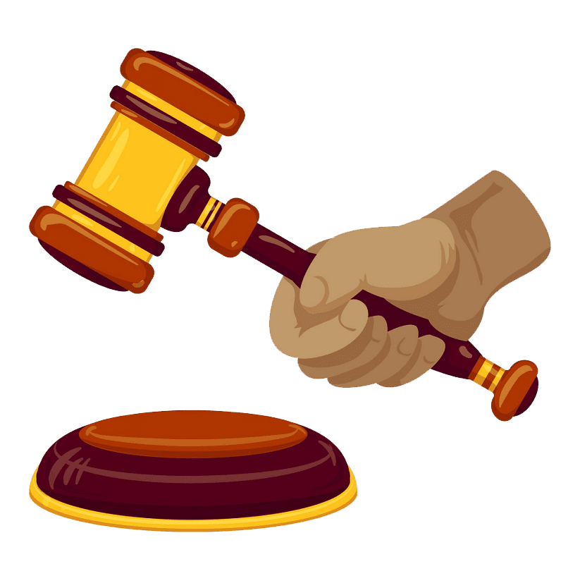 Hand Hold Gavel clipart transparent