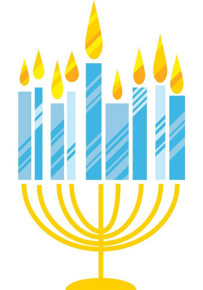 Hanukkah Menorah clipart 1