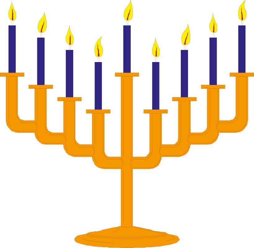 Hanukkah Menorah clipart free