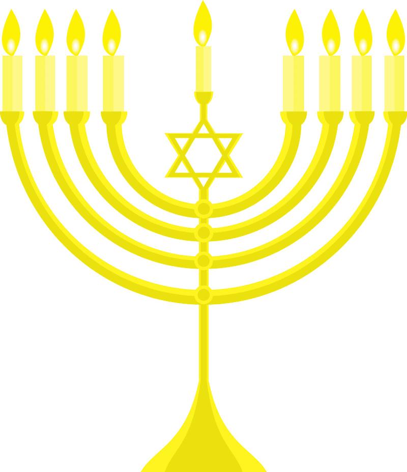Hanukkah Menorah clipart png
