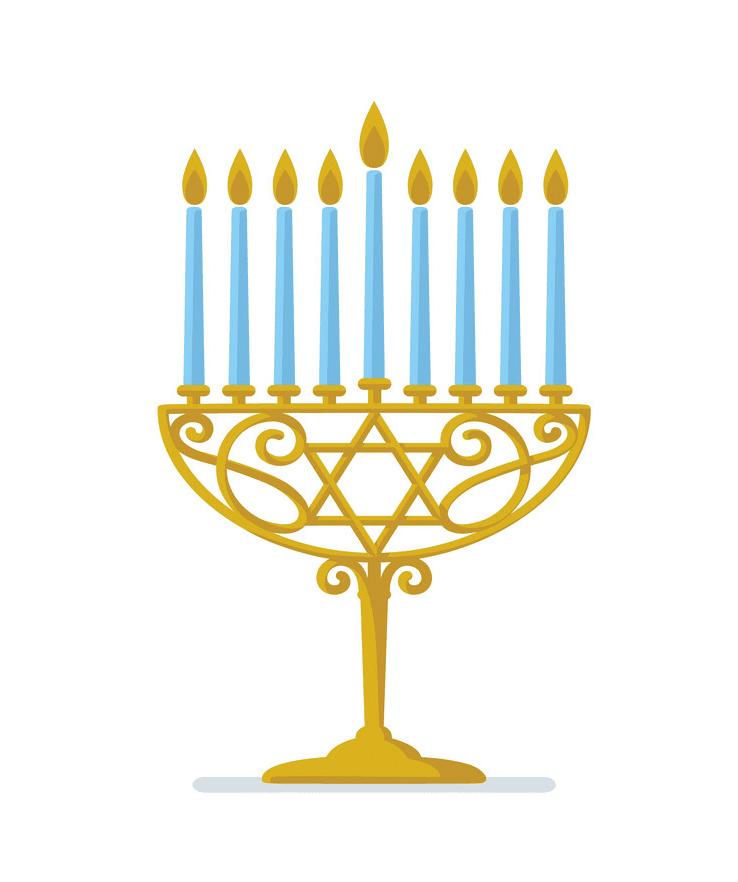 Hanukkah Menorah clipart