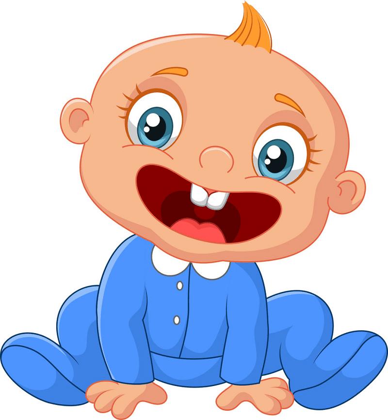 Happy Baby Boy clipart