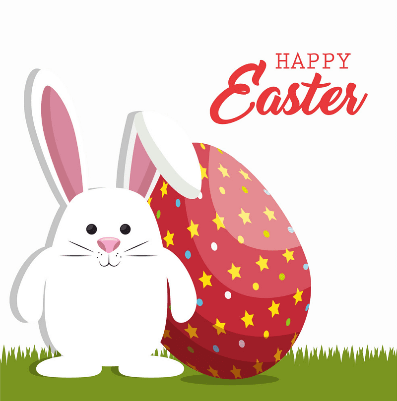 Happy Easter Rabbit clipart free