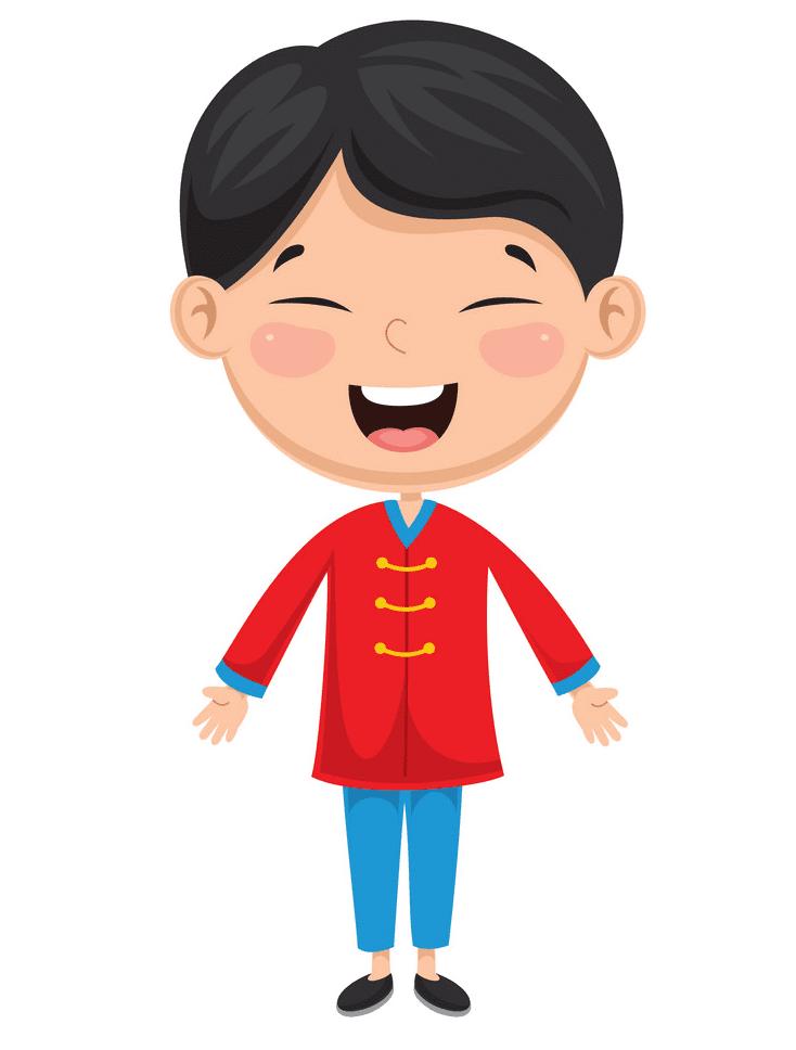 Happy Little Boy clipart