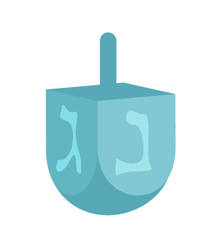 Icon Dreidel clipart transparent