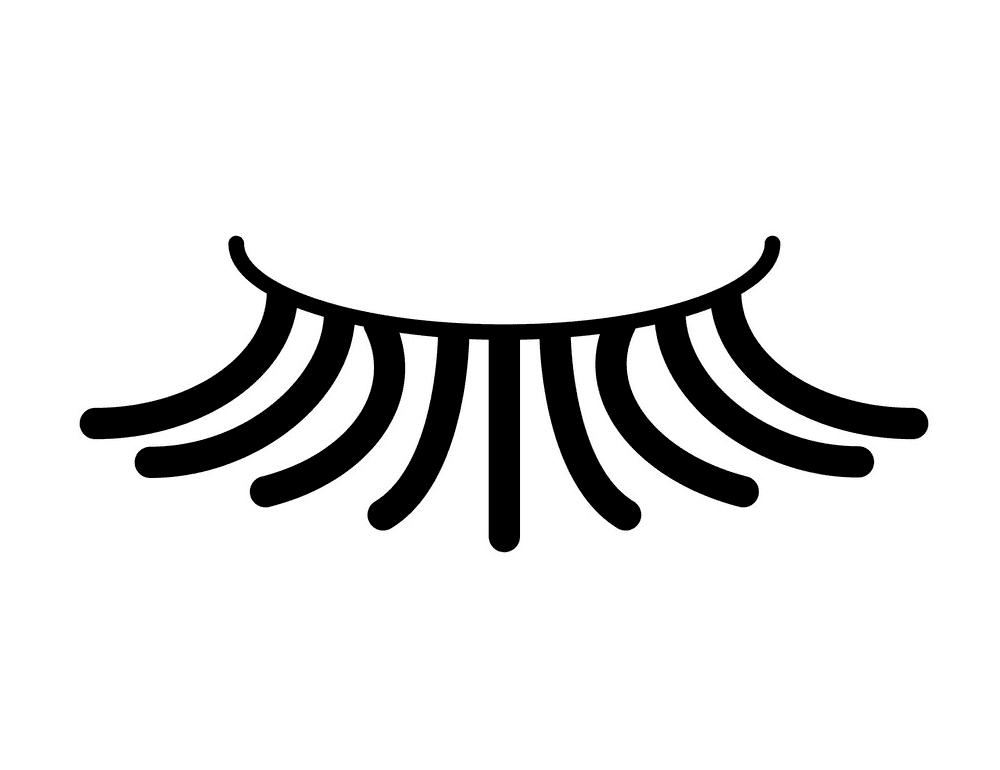 Icon Eyelash clipart free