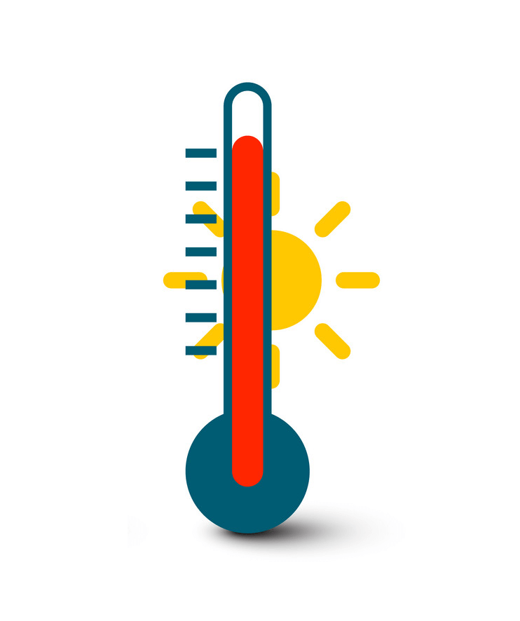 Icon Hot Thermometer clipart png