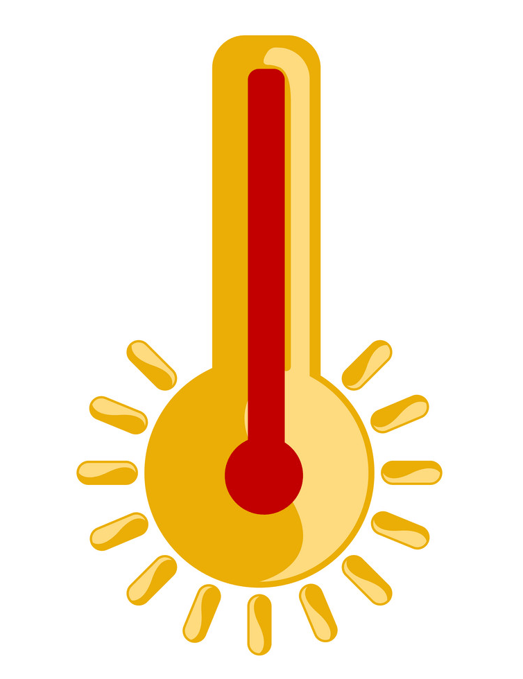 Icon Hot Thermometer clipart