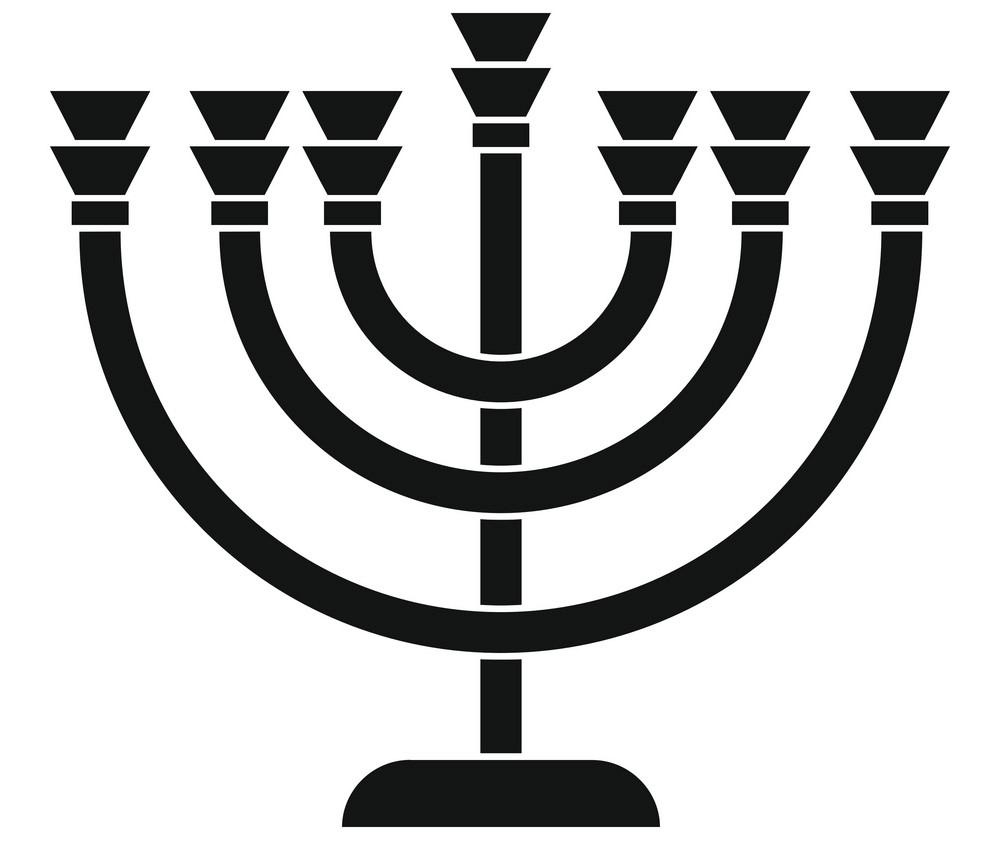 Icon Menorah clipart