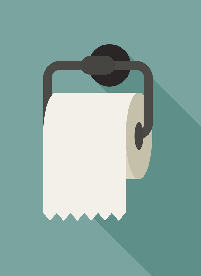 Icon Toilet Paper clipart