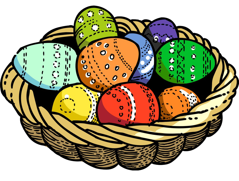 Image Easter Basket clipart transparent