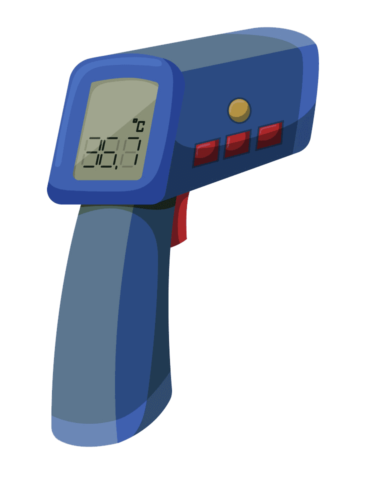 Infrared Thermometer clipart transparent