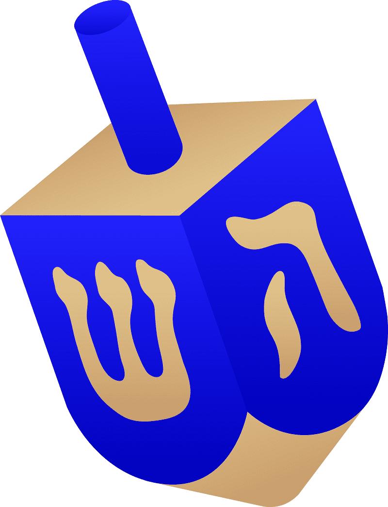 Jewish Dreidel clipart free