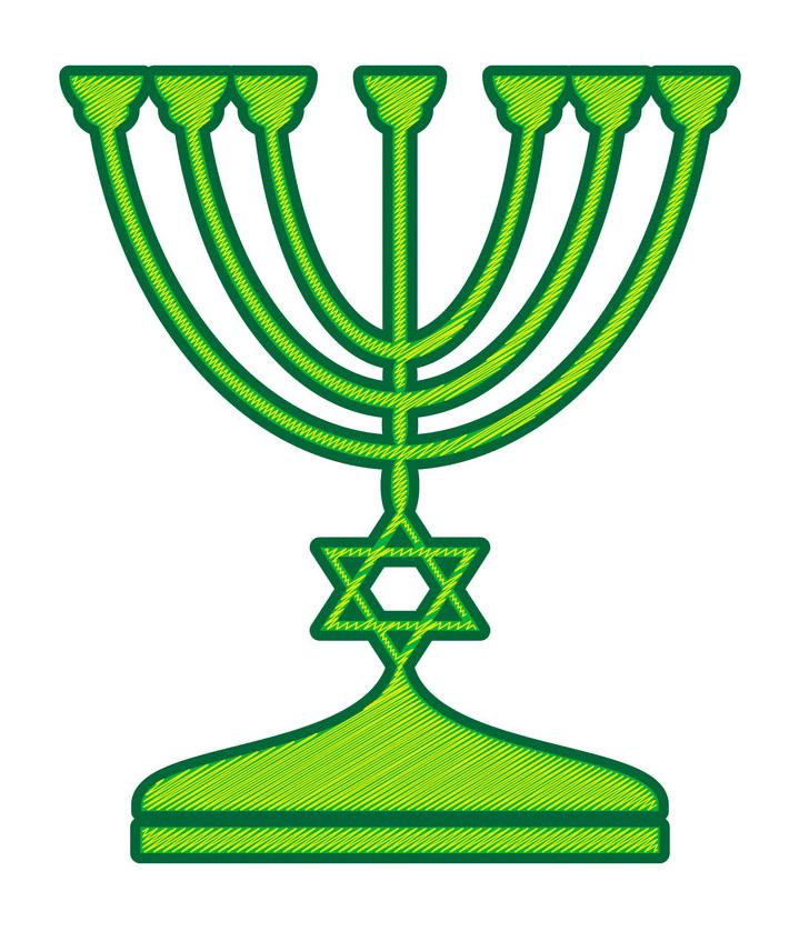 Jewish Menorah clipart 1