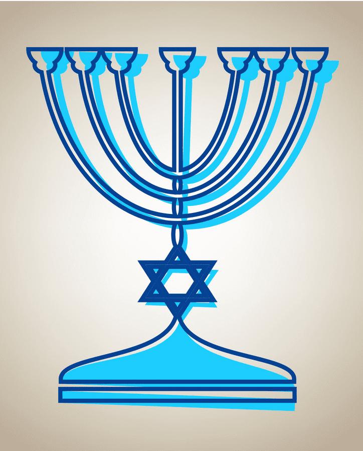 Jewish Menorah clipart free