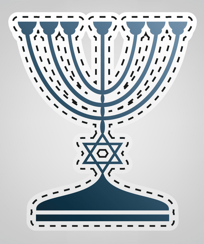 Jewish Menorah clipart png