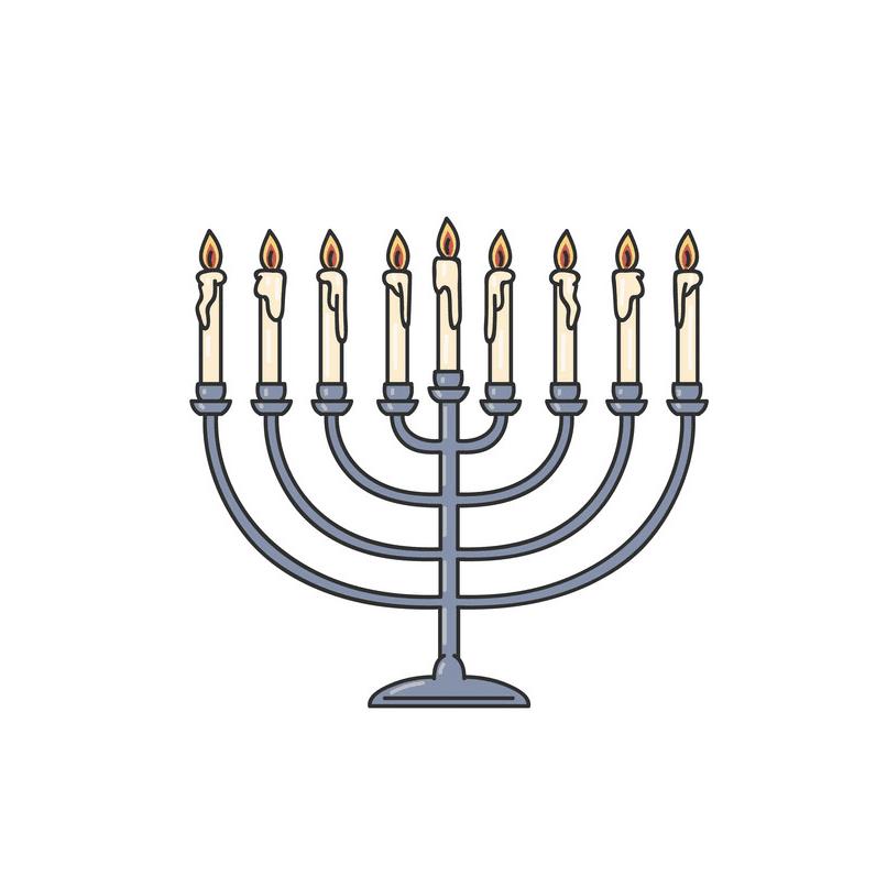 Jewish Menorah clipart