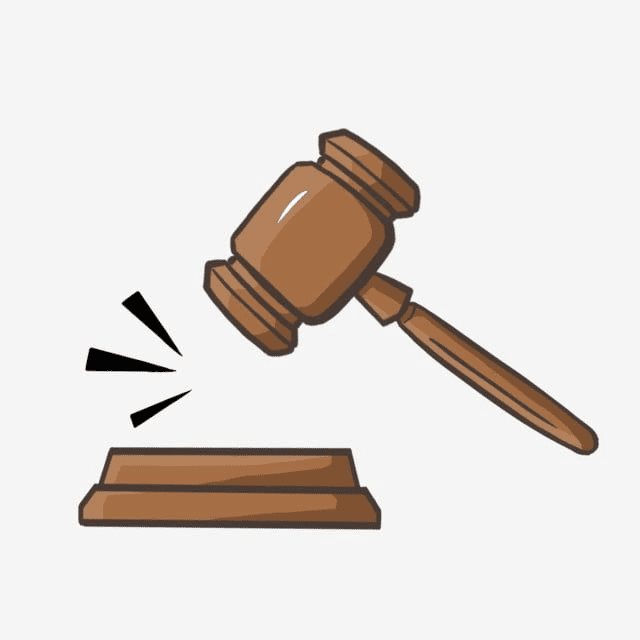 Judge Gavel clipart 6