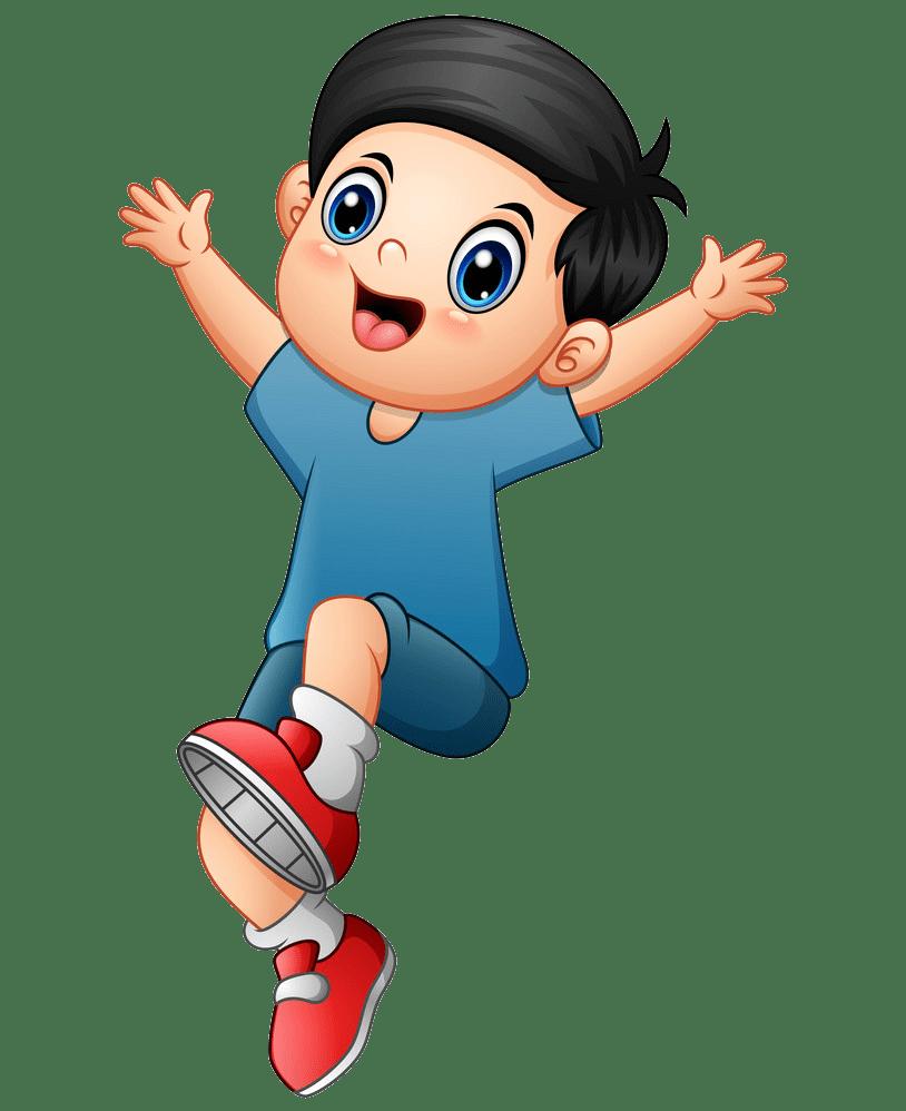 Jumping Boy clipart transparent