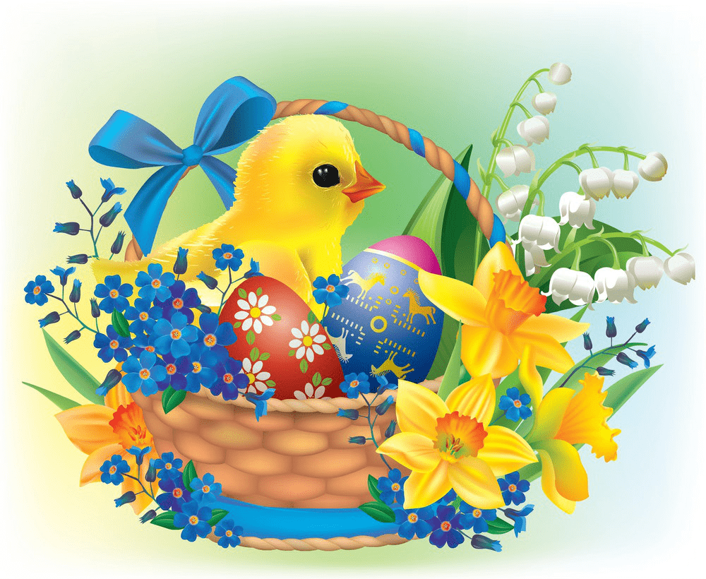 Kawaii Easter Basket clipart png