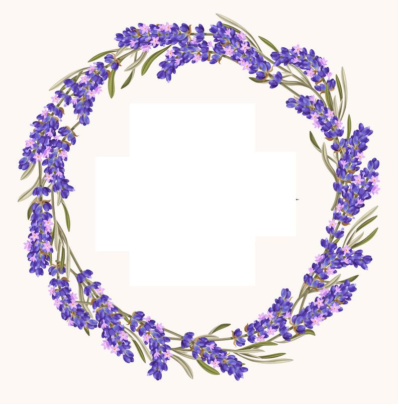 Lavender Wreath clipart free