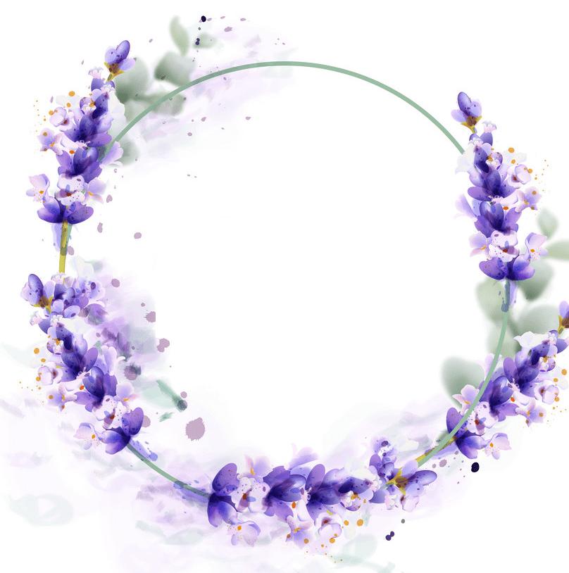 Lavender Wreath clipart png
