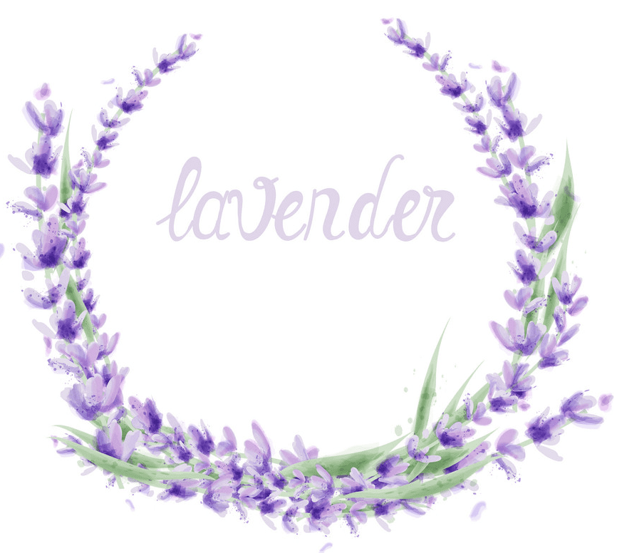 Lavender Wreath clipart