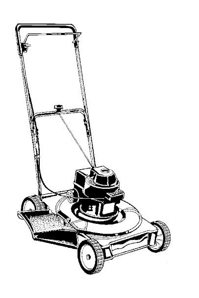 Lawn Mower Clipart Black and White 2