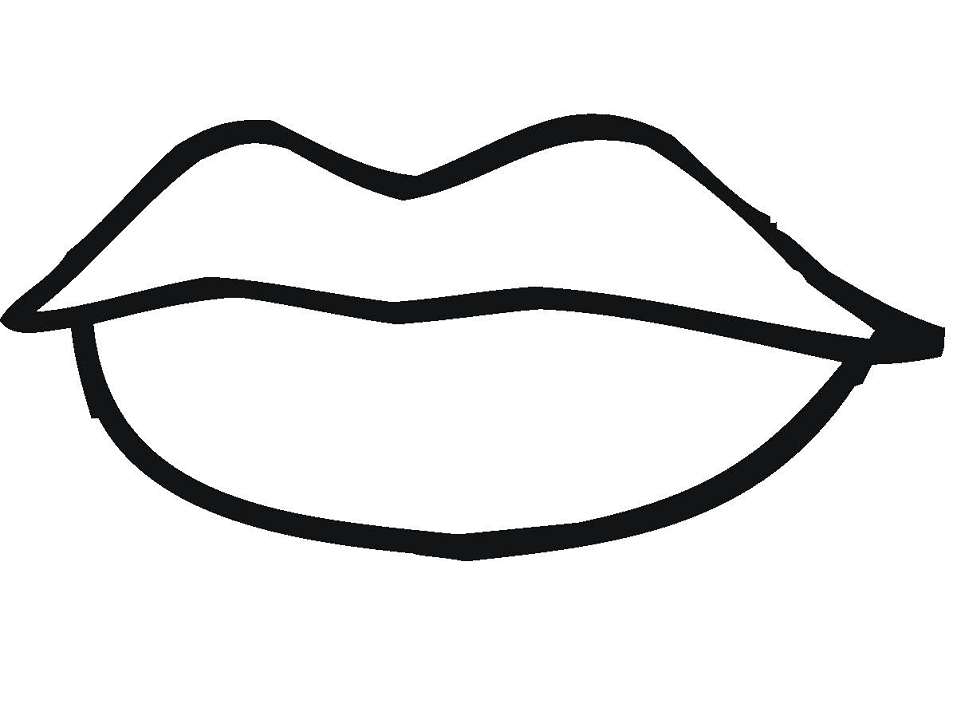 Lips Clipart Black and White 3