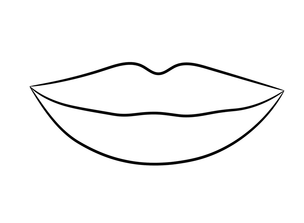 Lips Clipart Black and White 8