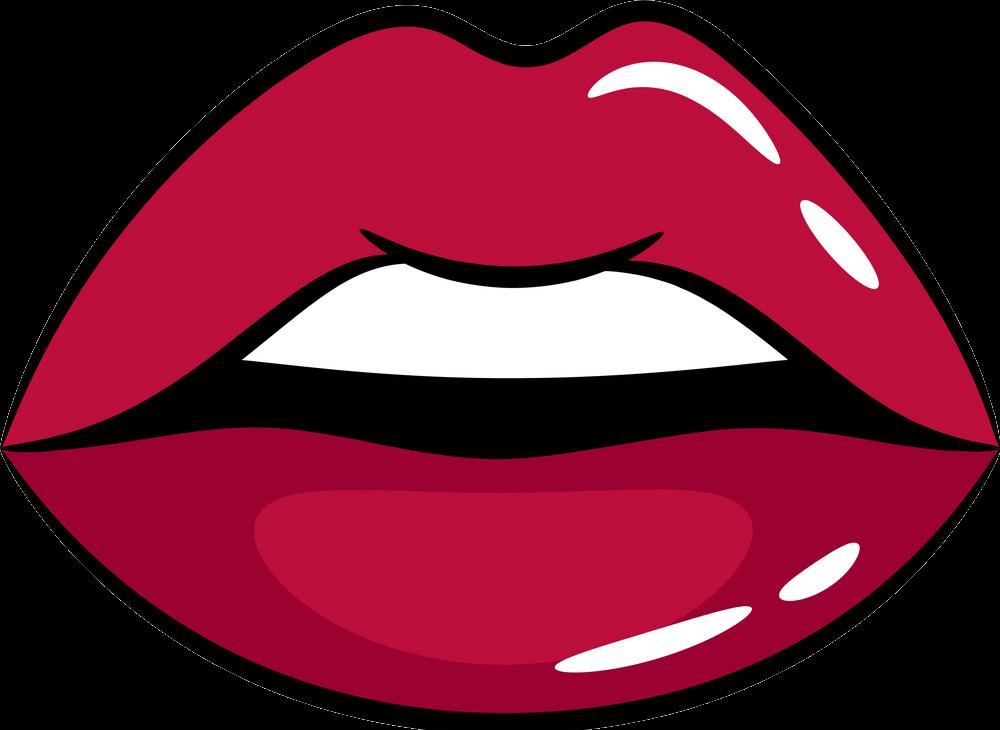 Lips clipart transparent 2
