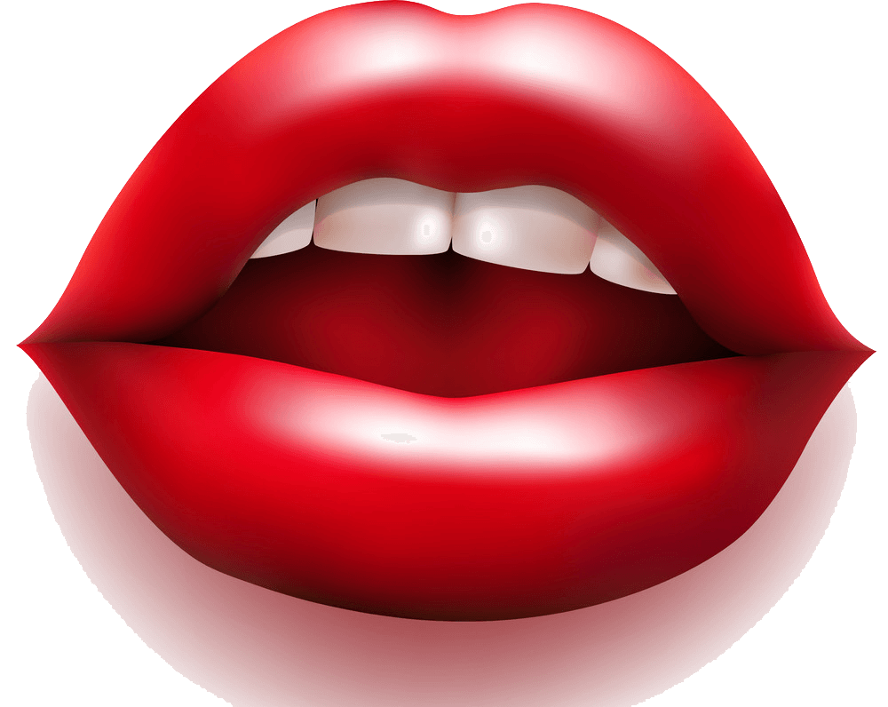 Lips clipart transparent background
