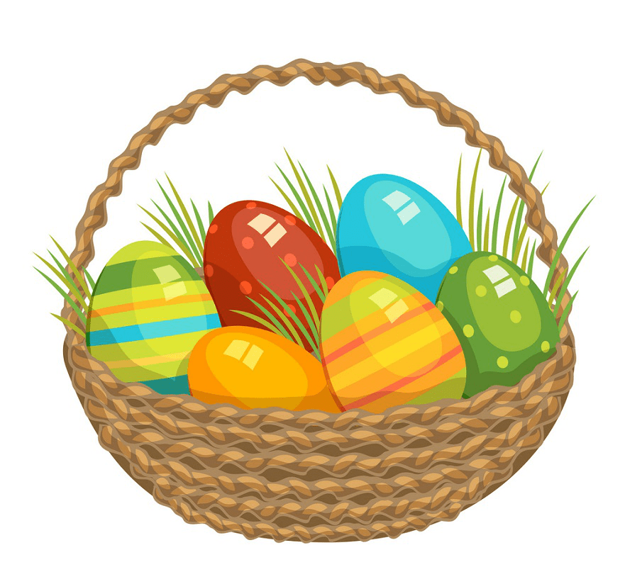 Lovely Easter Basket clipart