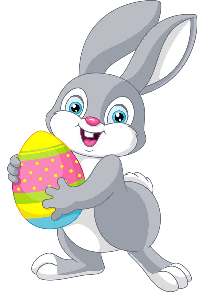 Lovely Easter Rabbit clipart transparent