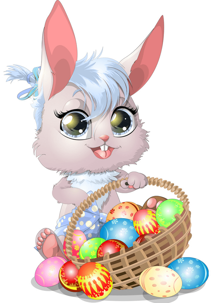 Lovely Easter Rabbit clipart