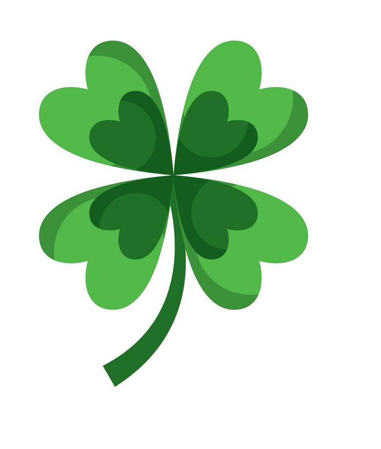 Lucky Four Leaf Clover clipart