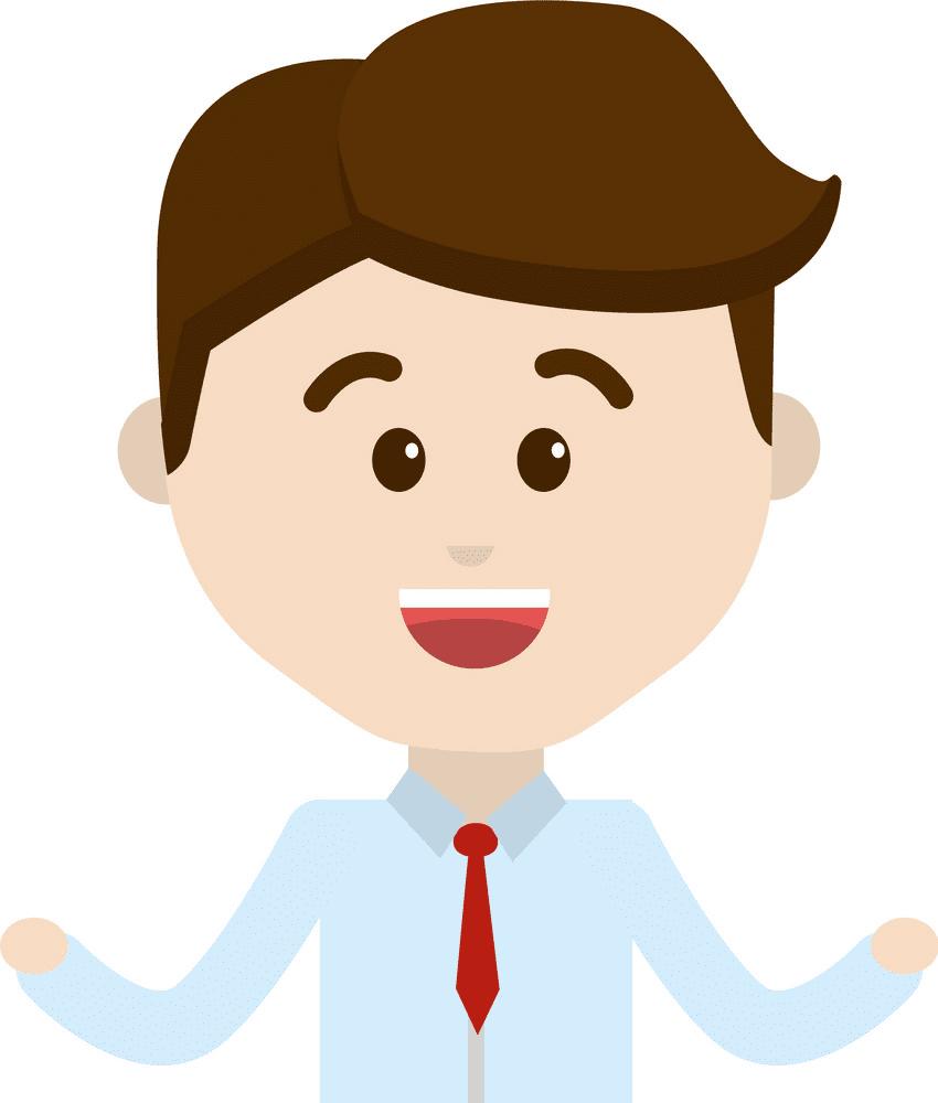 Man Happy Face clipart