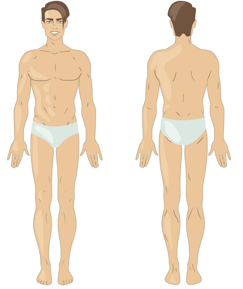 Man in Underwear clipart 1