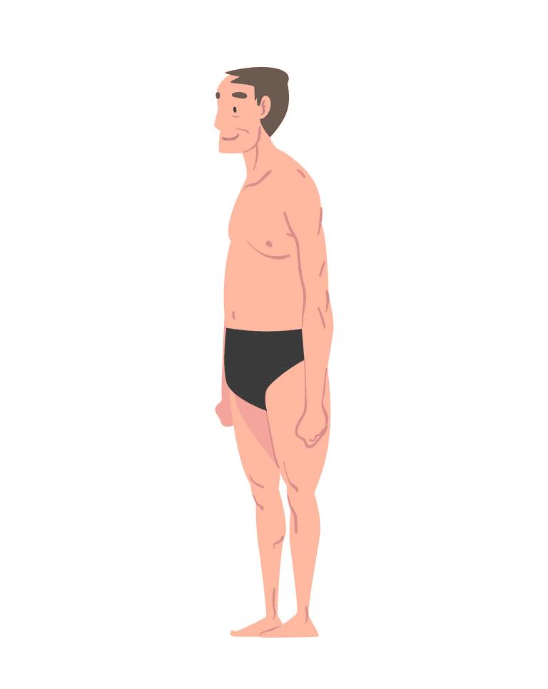 Man in Underwear clipart