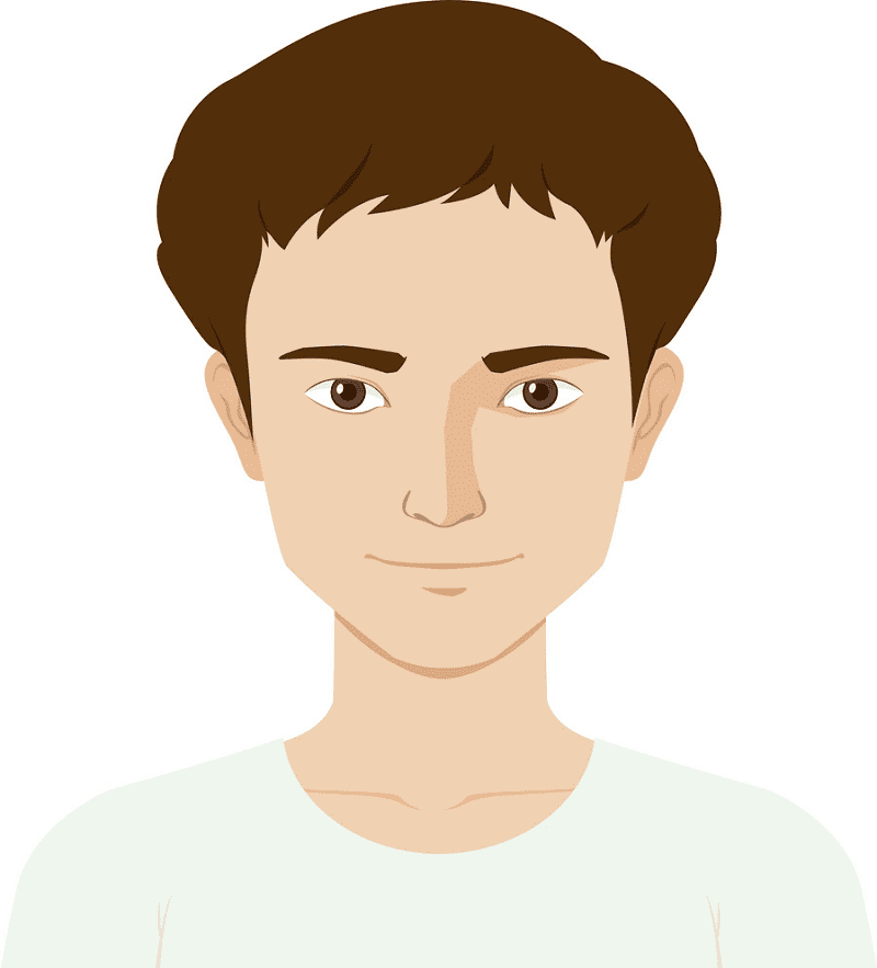 Man with Happy Face clipart
