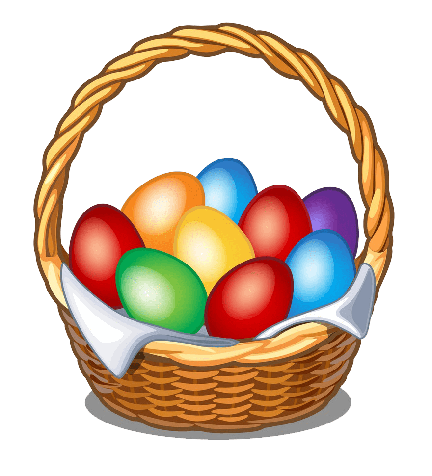 Nice Easter Basket clipart transparent
