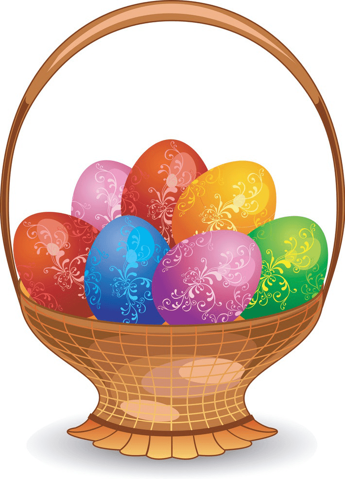 Nice Easter Eggs Basket clipart